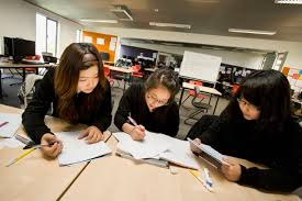 a group of secondary school students having chinese home tuition